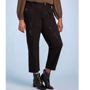 Eloquii Elements distressed plus size mom jeans 16